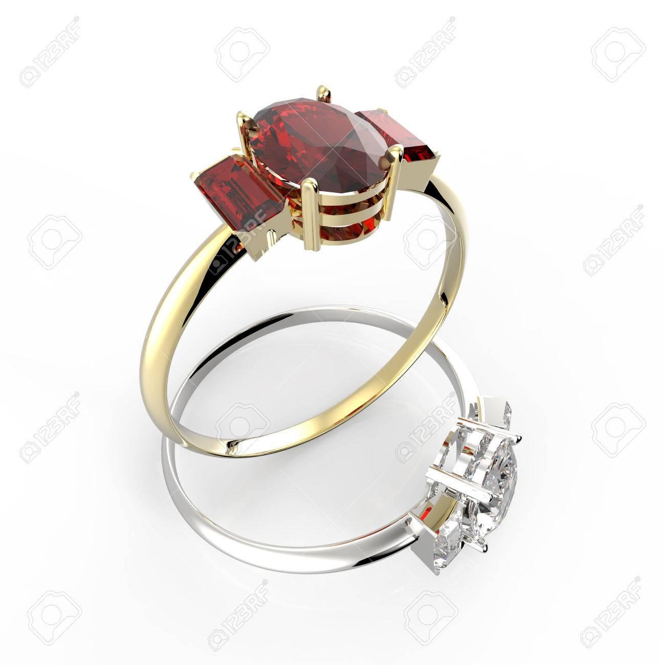 Les Anneaux De Mariage Avec Des Diamants Sur Un Fond Noir Bijoux De Mode 3d Illustration Numériquement Rendu