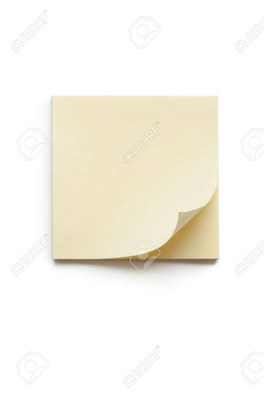 blank yellow memo paper isolated on white stock photo picture and stock photo blank yellow memo paper isolated on white