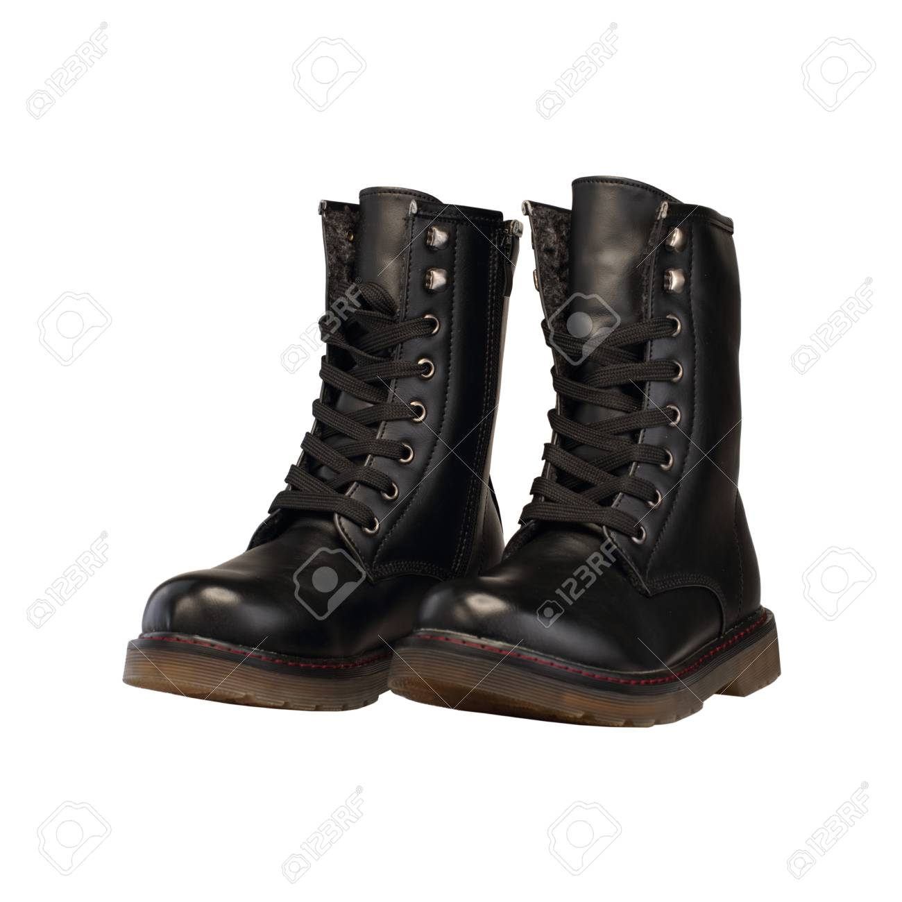 Women's Military Boots Stock Photo