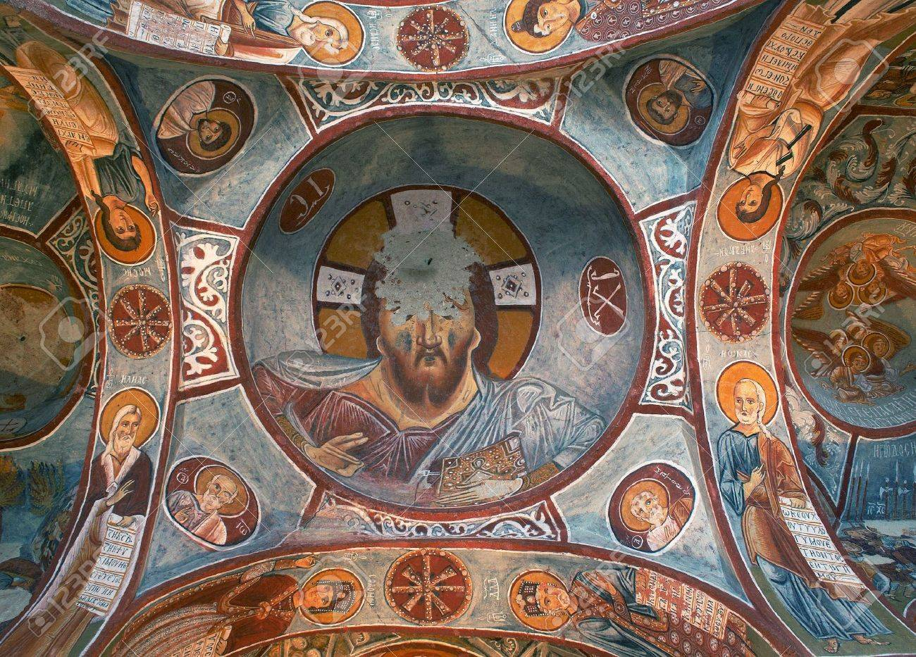 Ancient fresco in Cappadocia Stock Photo - 6575026