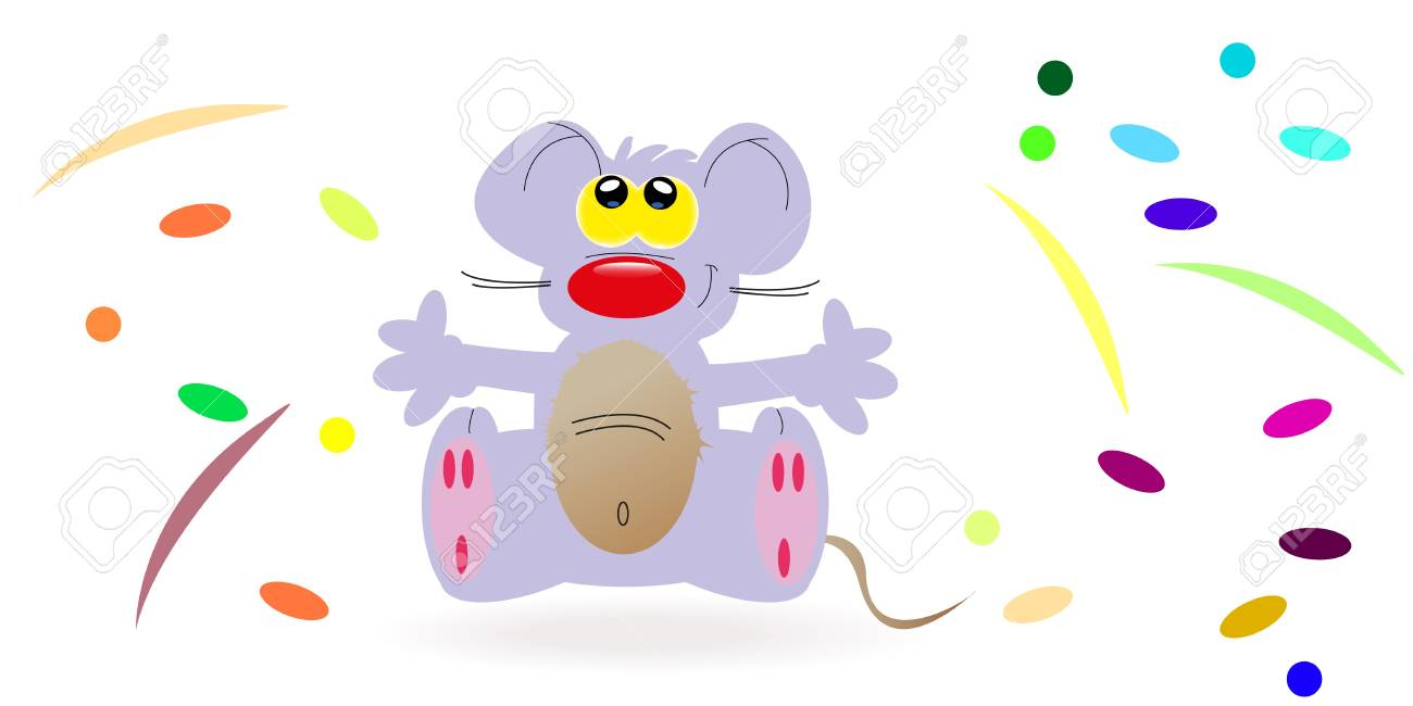 Purple mouse alone Stock Vector - 16621779