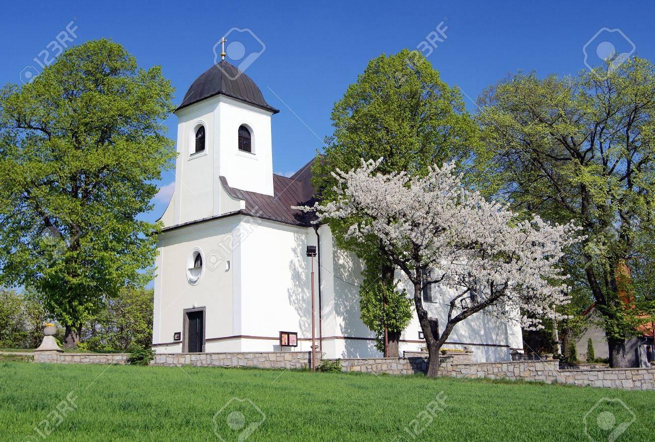 church in ruda village bohemia and moravia highlands czech republic Stock Photo - 12741966