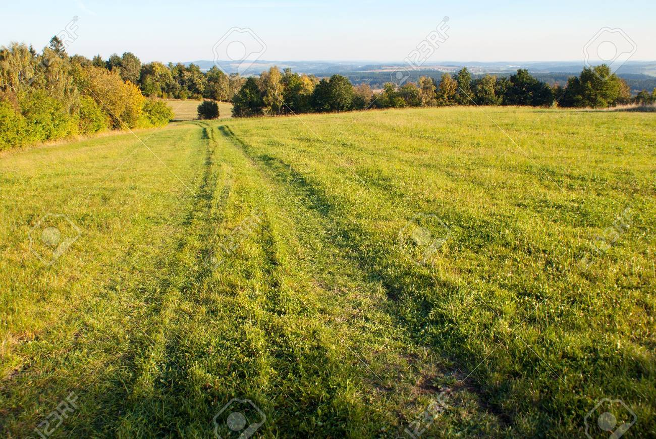 autumny scenery from Bohemian and Moravian highland - Czech Republic - Europe Stock Photo - 15305410