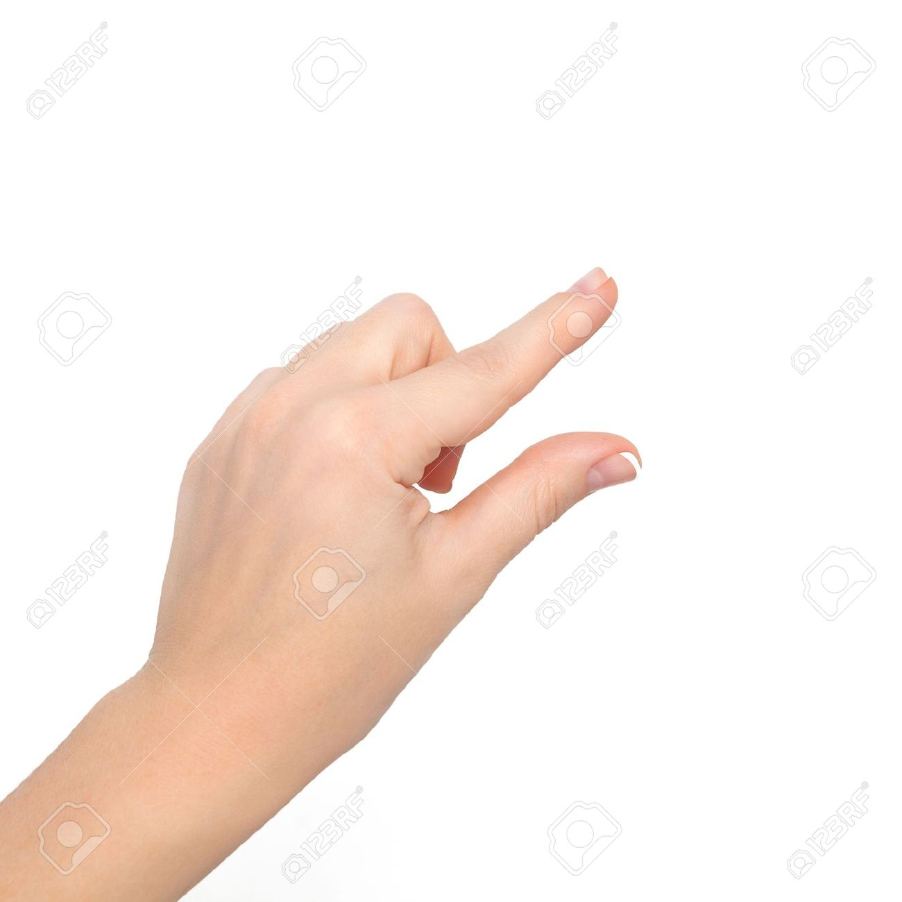 Isolated Woman Hand Shows The Pinch To Zoom Or Holding The Object Stock Photo Picture And Royalty Free Image Image 16798991 Free hand signs clipart pictures png. isolated woman hand shows the pinch to zoom or holding the object
