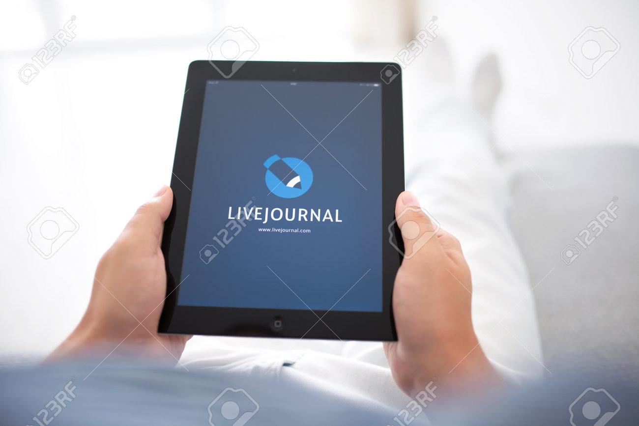 Simferopol, Russia - August 20, 2014: LiveJournal blog platform
