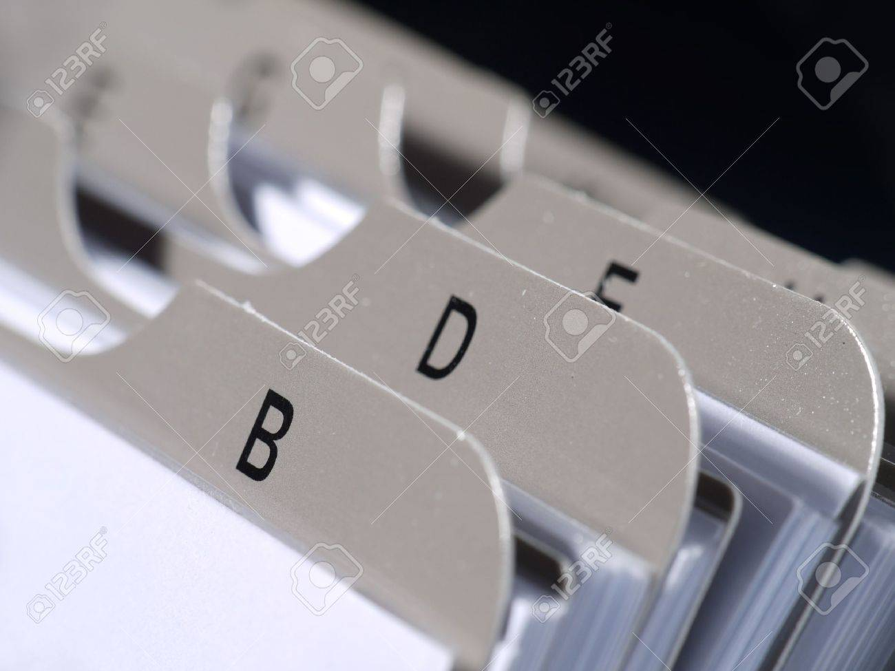 Closeup of revolving name card holder bookmarks Stock Photo - 4216502