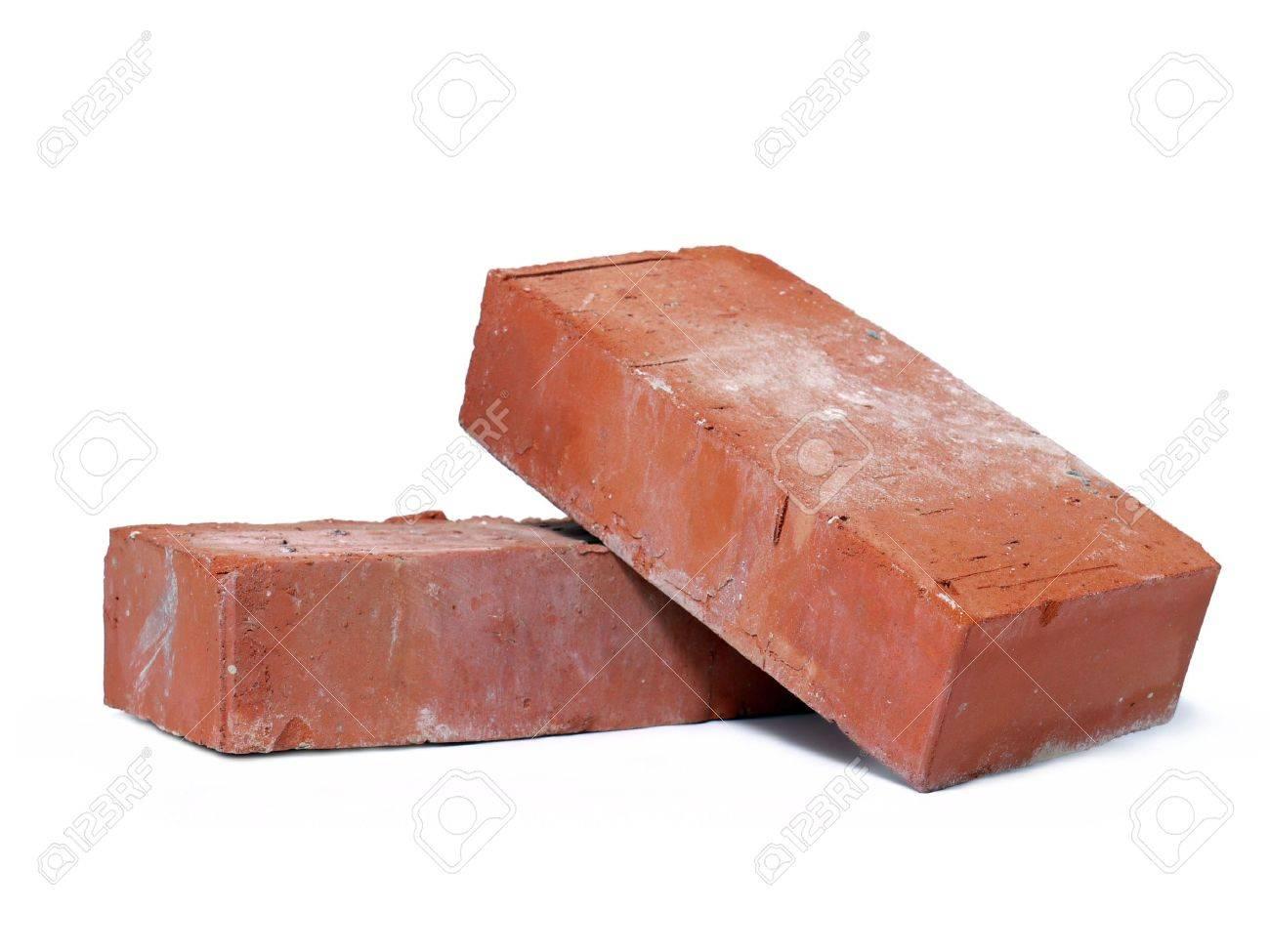 Two solid bricks shot on white background Stock Photo - 5285655