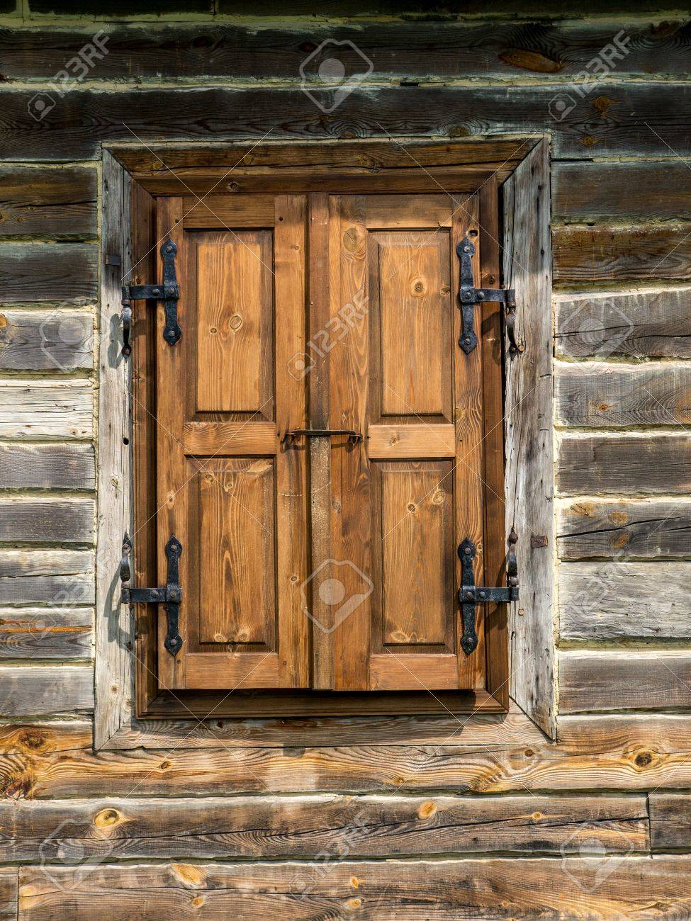 Old Wooden Rustic Window Shutters Stock Photo Picture And Royalty Free Image Image 30850107