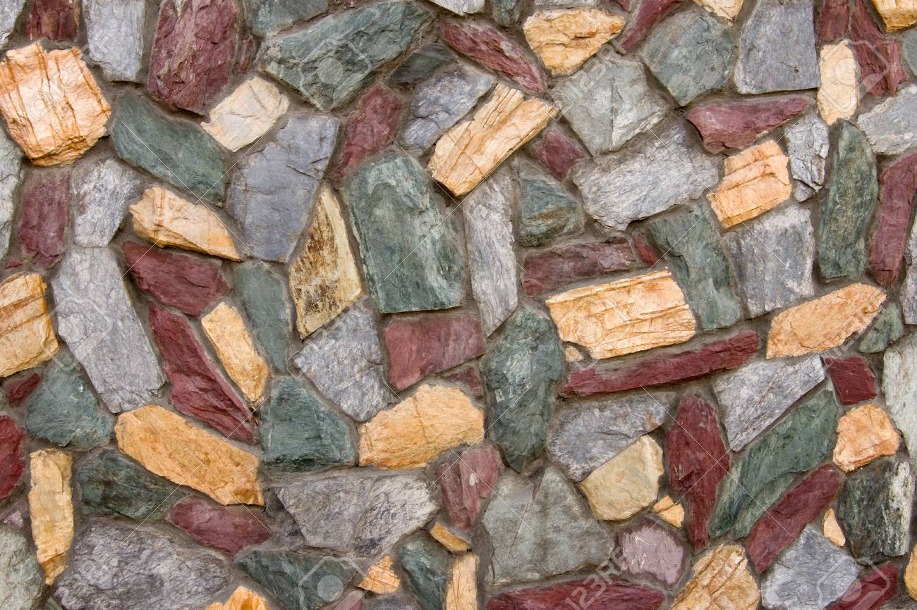 background of wall with colored stones Stock Photo - 3853574