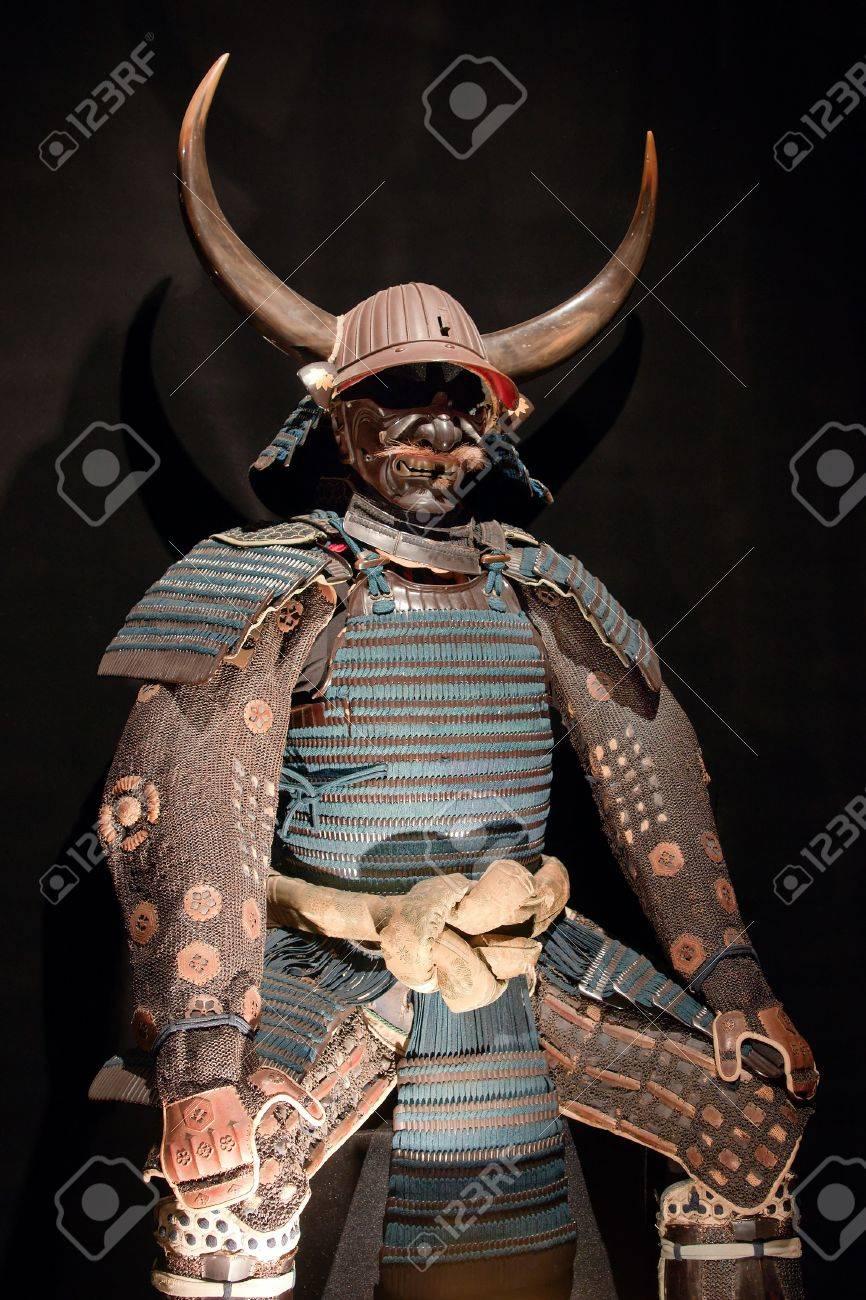 4327572-historic-samurai-armor-on-black.