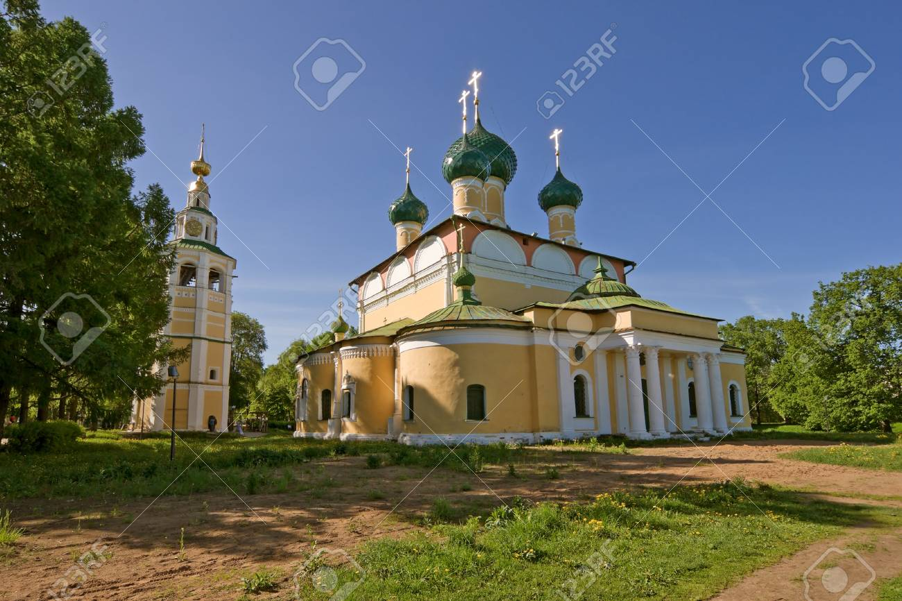 Transfiguration Cathedra in Uglich with clear sky Stock Photo - 13804315