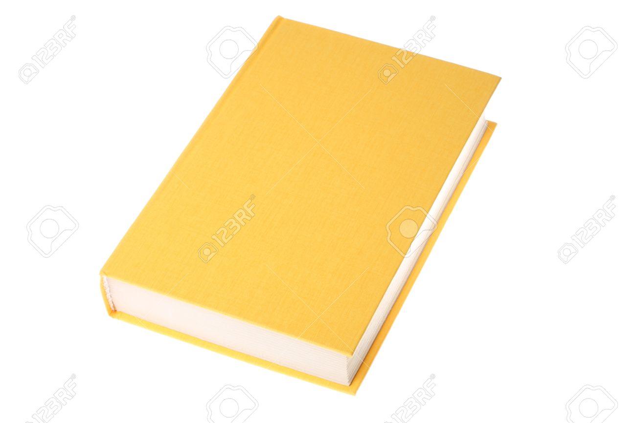 白い背景で隔離イエロー ブック の写真素材・画像素材 Image 8010830.