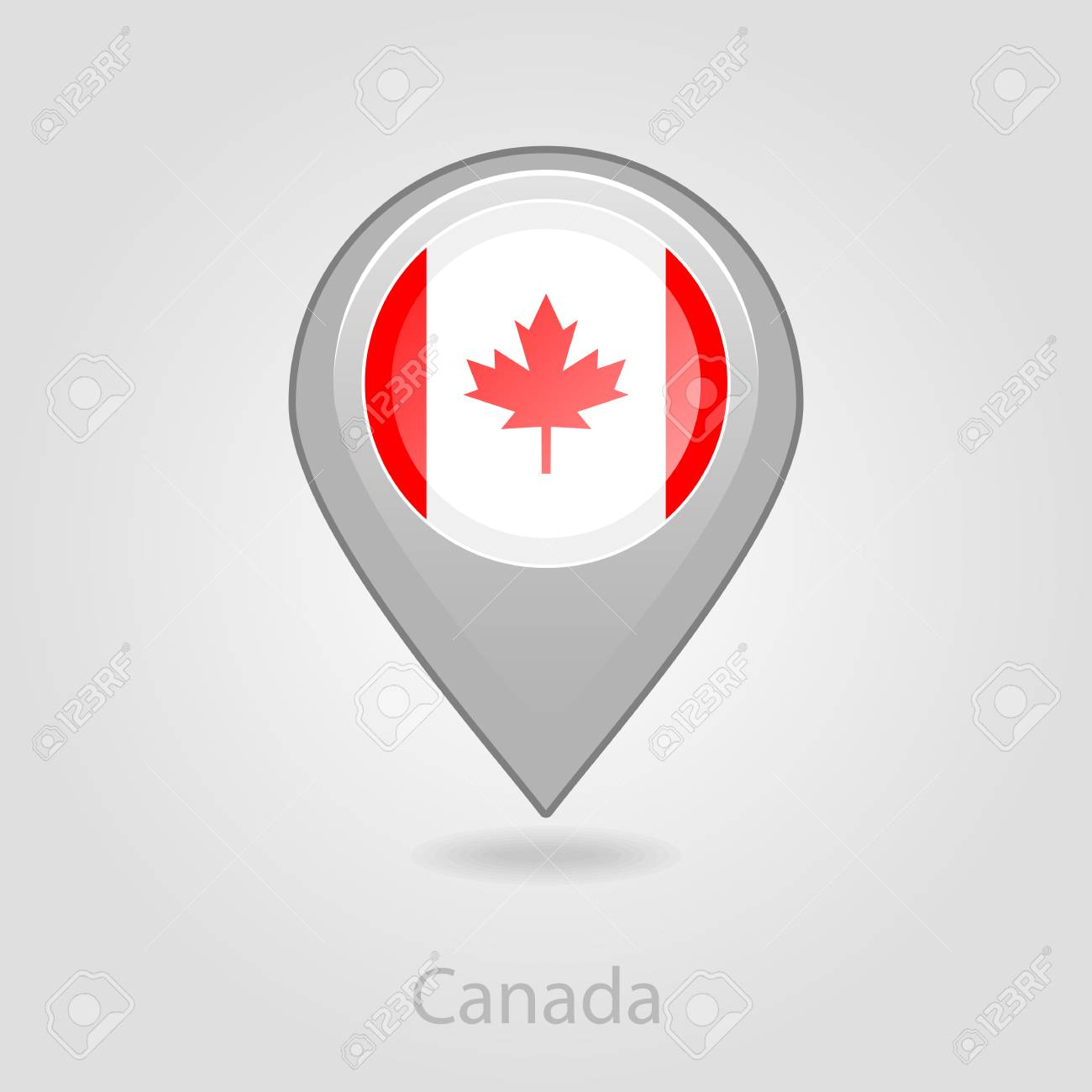 Map Of Canada Eps.Canada Flag Pin Map Icon Isolated Vector Illustration Eps 10