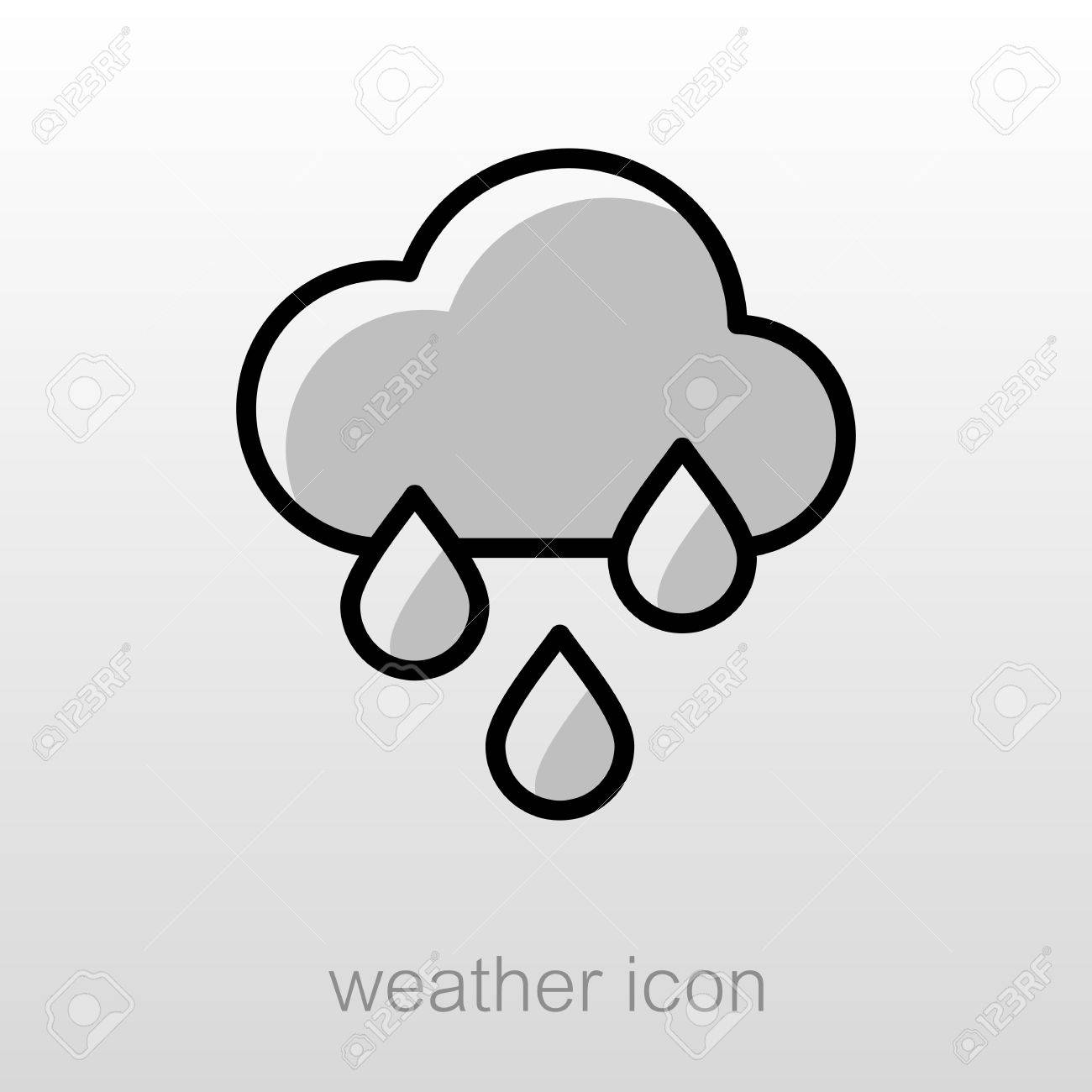 Rain Cloud Rainfall outline icon  Meteorology  Weather  Vector
