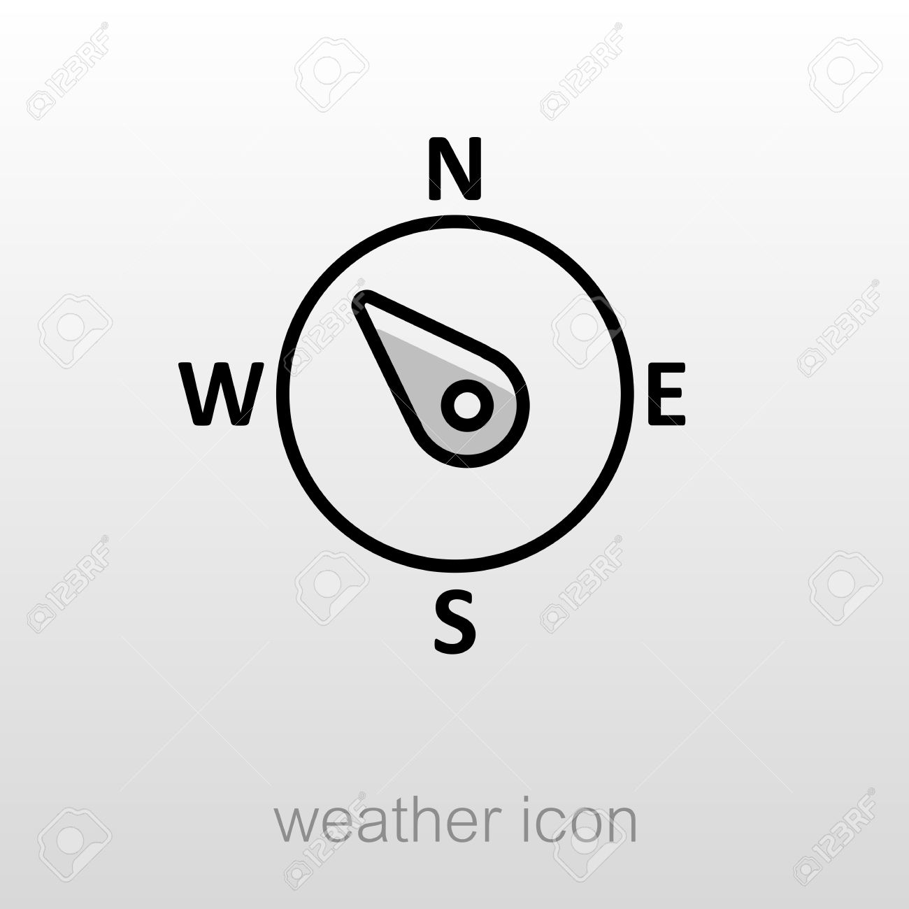 Compass wind rose outline icon direction northwest meteorology direction northwest meteorology weather vector illustration stock biocorpaavc Image collections