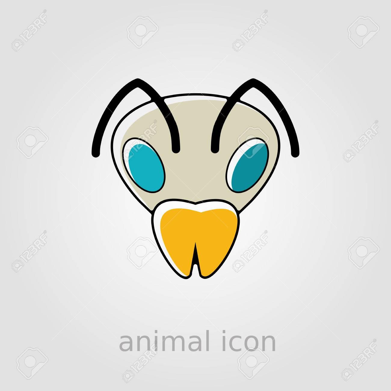 Bee wasp bumblebee flat icon animal head vector symbol royalty animal head vector symbol stock vector 55017460 biocorpaavc