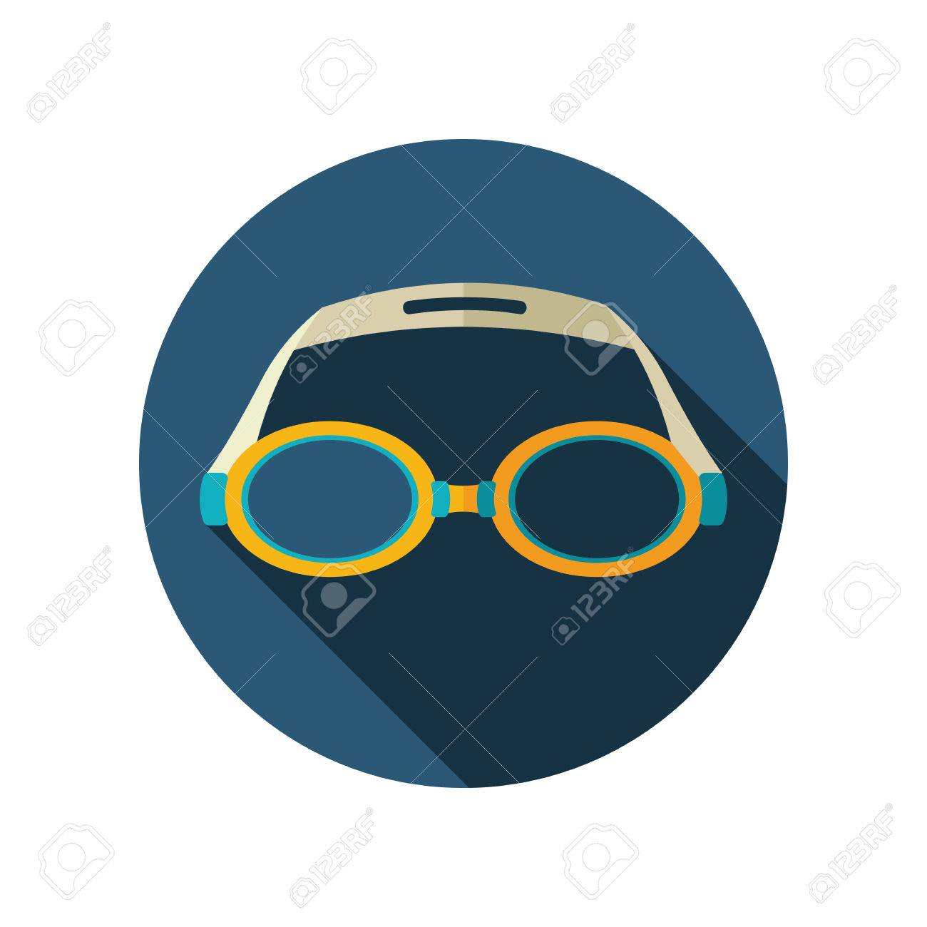 7b21d729d0e0 Swimming Goggles vector flat icon. Beach. Summer. Summertime. Vacation  Stock Vector -