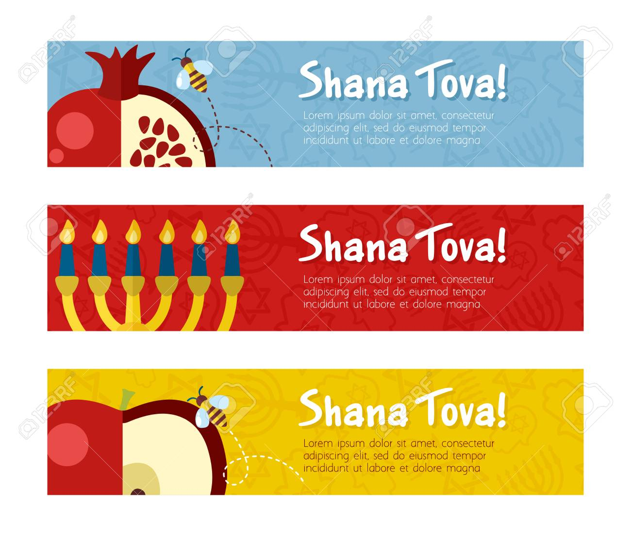 banner for jewish new year holiday rosh hashanah template for postcard or invitation card