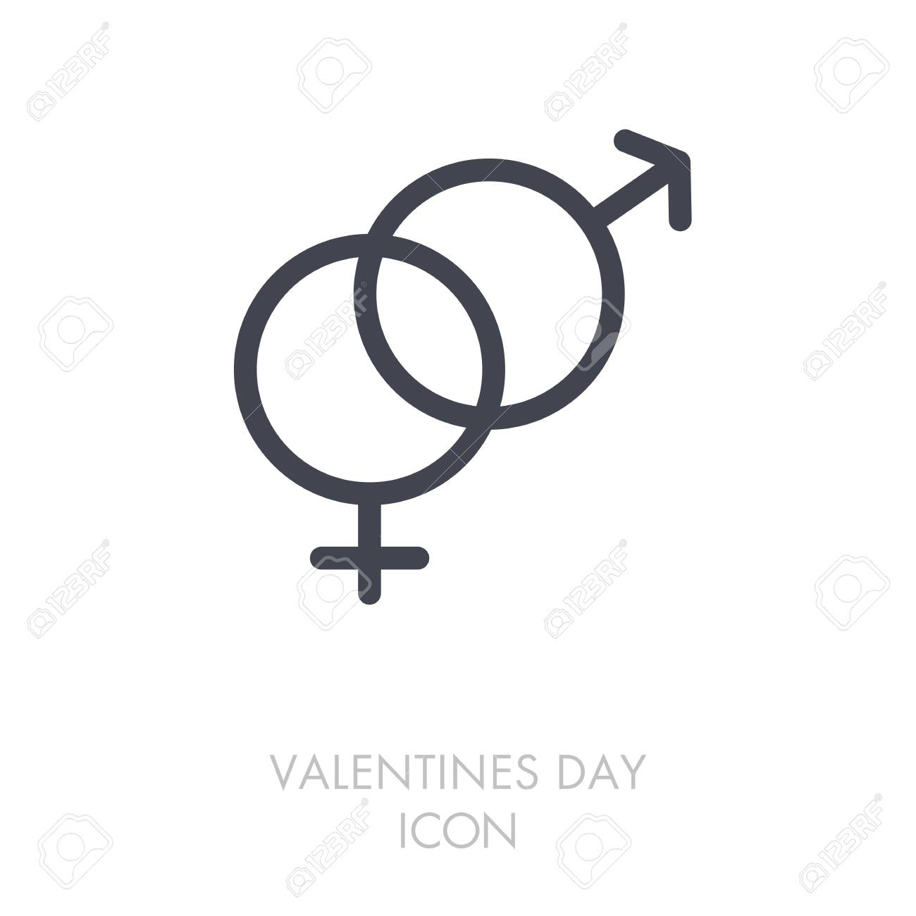 Male And Female Icon Vector Symbols Gender Sign Valentines