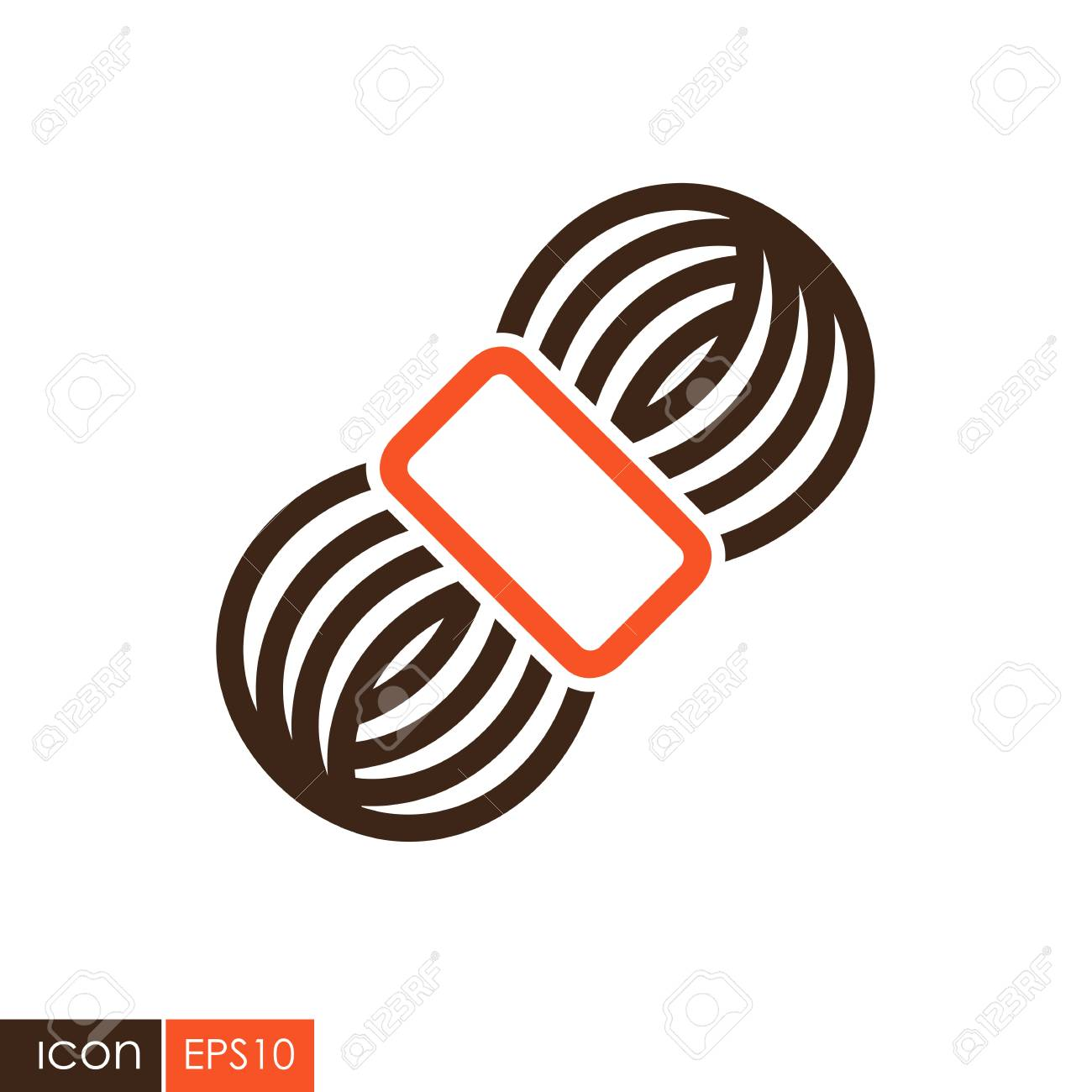 Roll of yarn icon  Farm animal sign  Graph symbol for your web