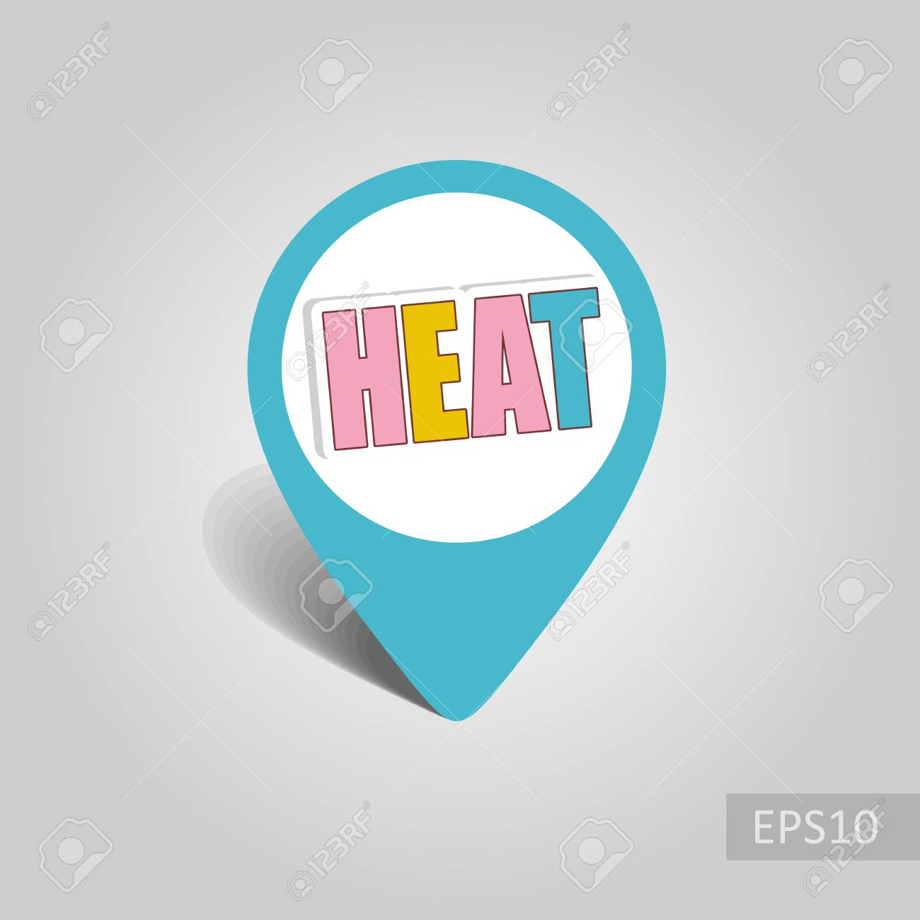heat vector pin map icon beach map pointer summer map markers