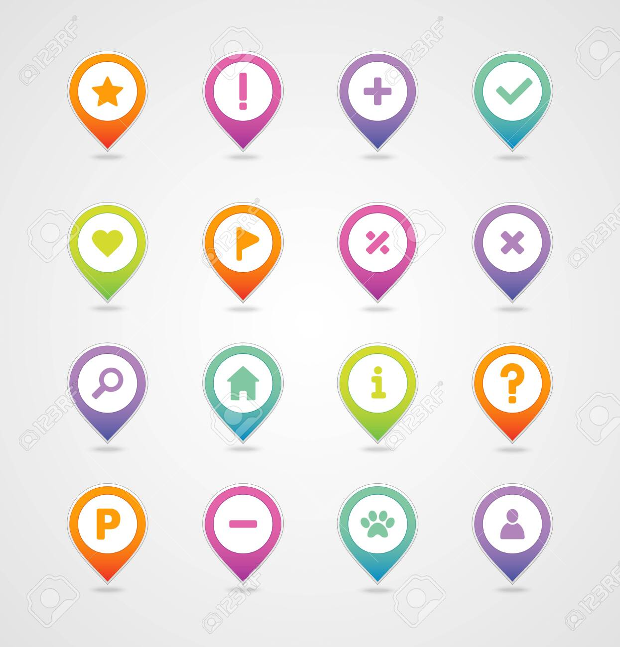 Pin Map Icon Set. Map Pointer. Map Markers. Destination Vector ...