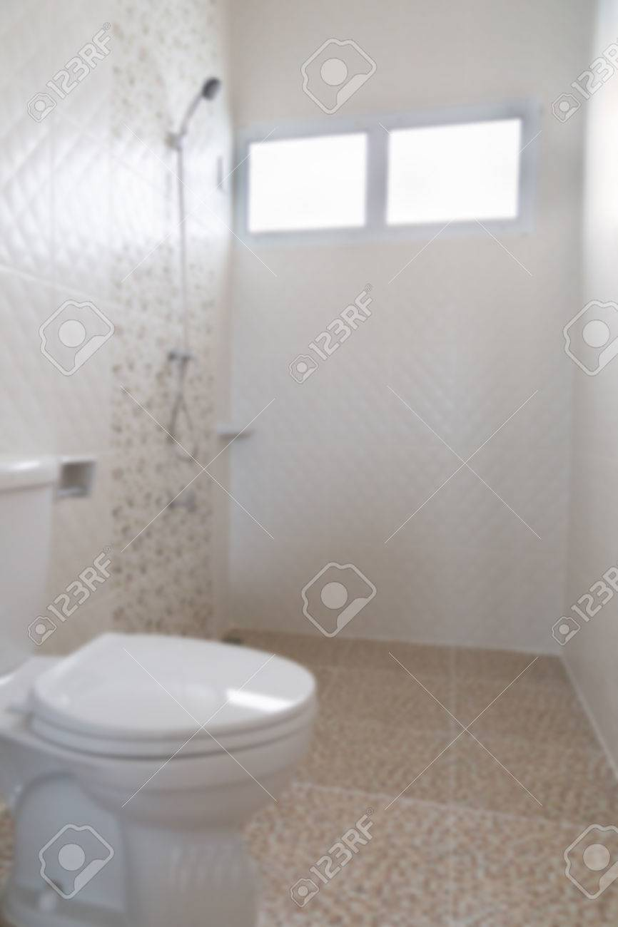 Lavatory Flush Toilet Bathroom (blurry Defocused For Interior ...