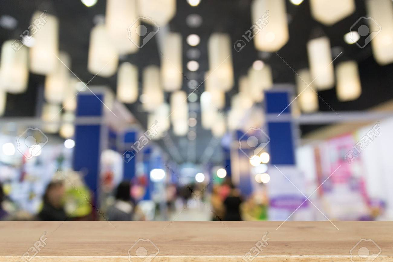 Exhibition Hall Booth : Trade fair in exhibition hall booth selling cheap goods from