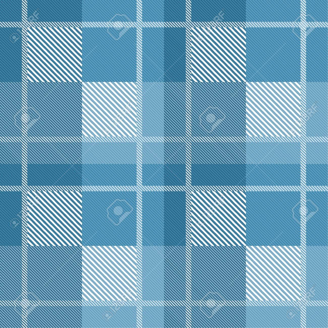 seamless tartan plaid pattern in blue tone ロイヤリティフリー