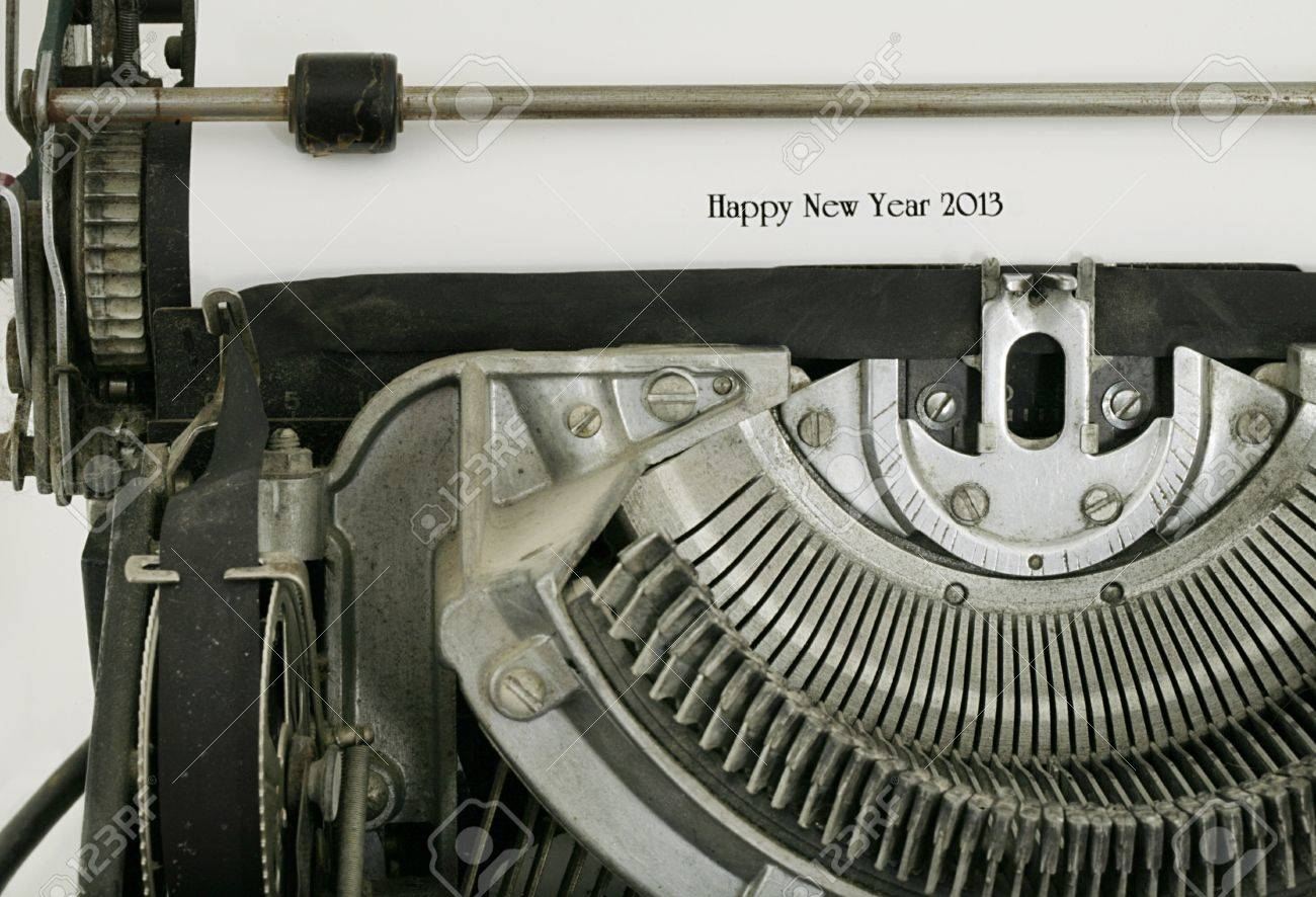 Happy New Year 2012 typed on vintage electric typewriter Stock Photo - 14299029