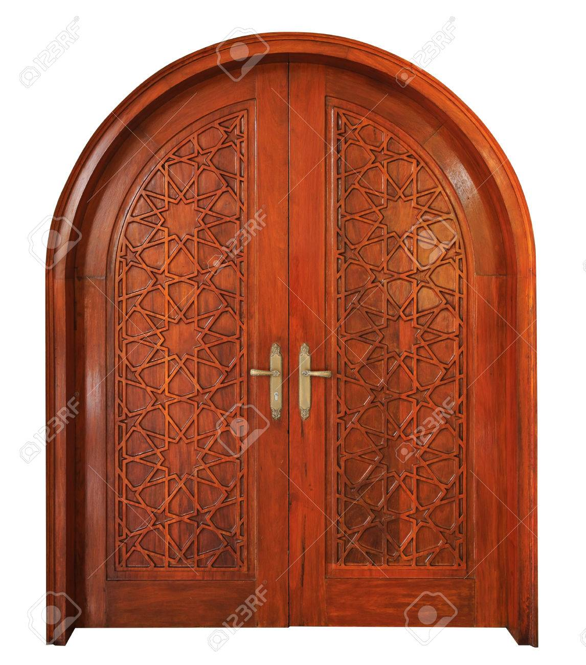 Star pattern of wooden Masjid door on isolated white background with clipping path Stock Photo -  sc 1 st  123RF.com & Star Pattern Of Wooden Masjid Door On Isolated White Background ...
