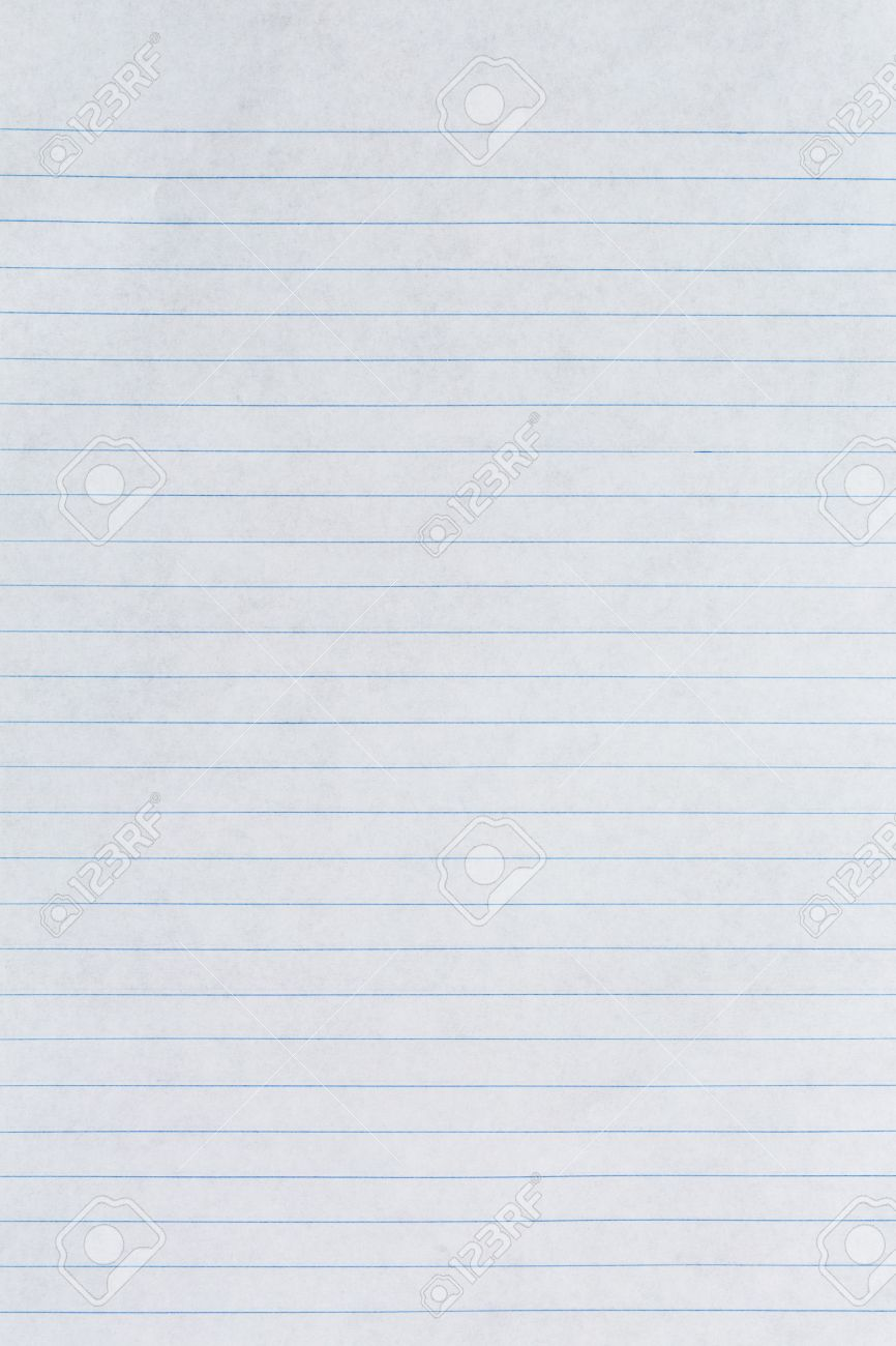 Texture Of White Lined Paper Background