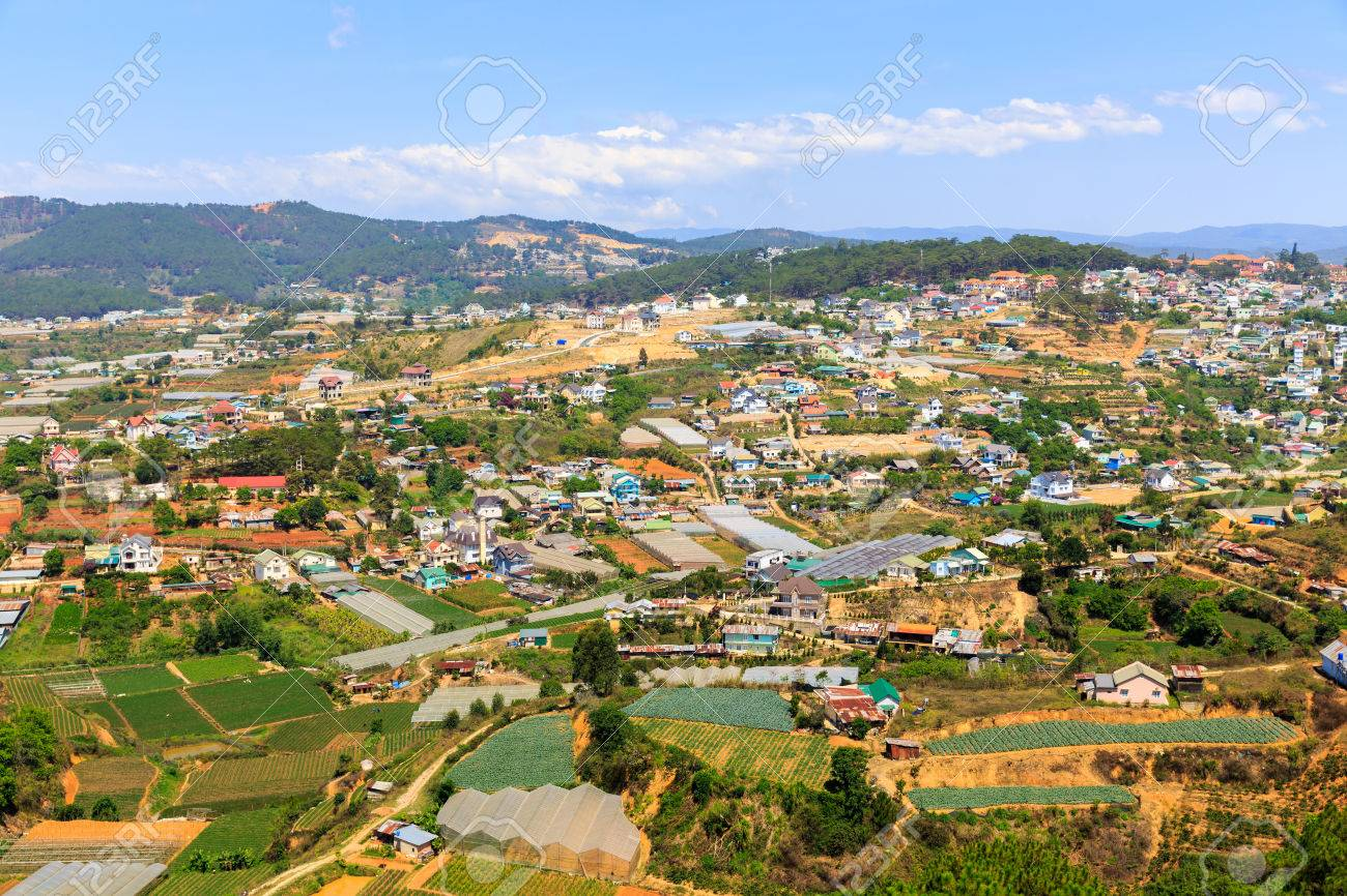 Aerial View Of Dalat City, Vietnam Stock Photo, Picture And ...