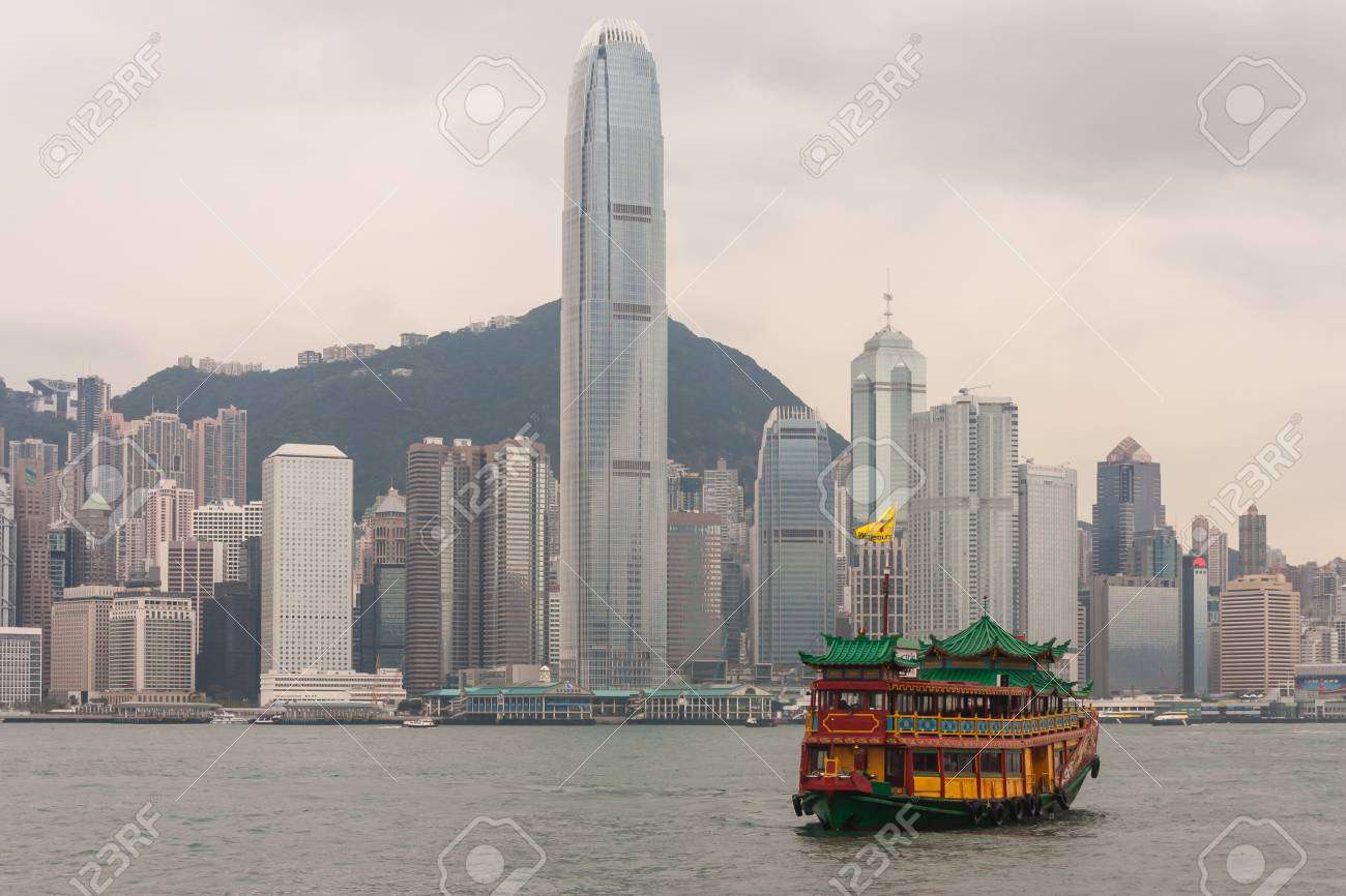Victoria harbour in Hong Kong Stock Photo - 19128399