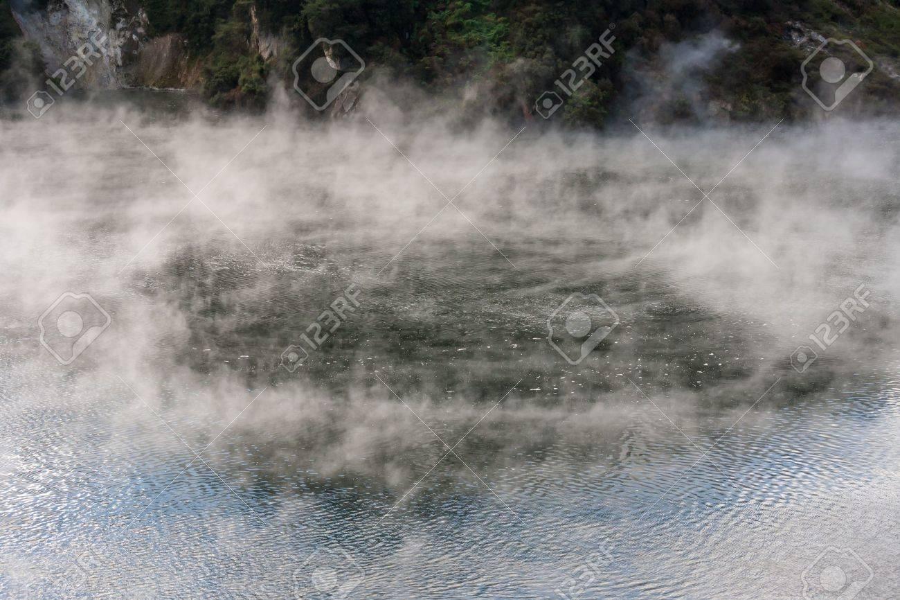 steam raising from geothermal lake in Waimangu, New Zealand Stock Photo - 20262113