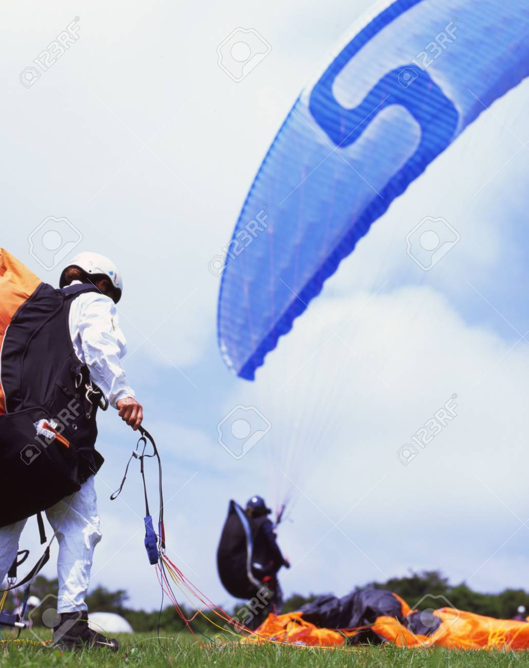 Paragliders Stock Photo - 3430859