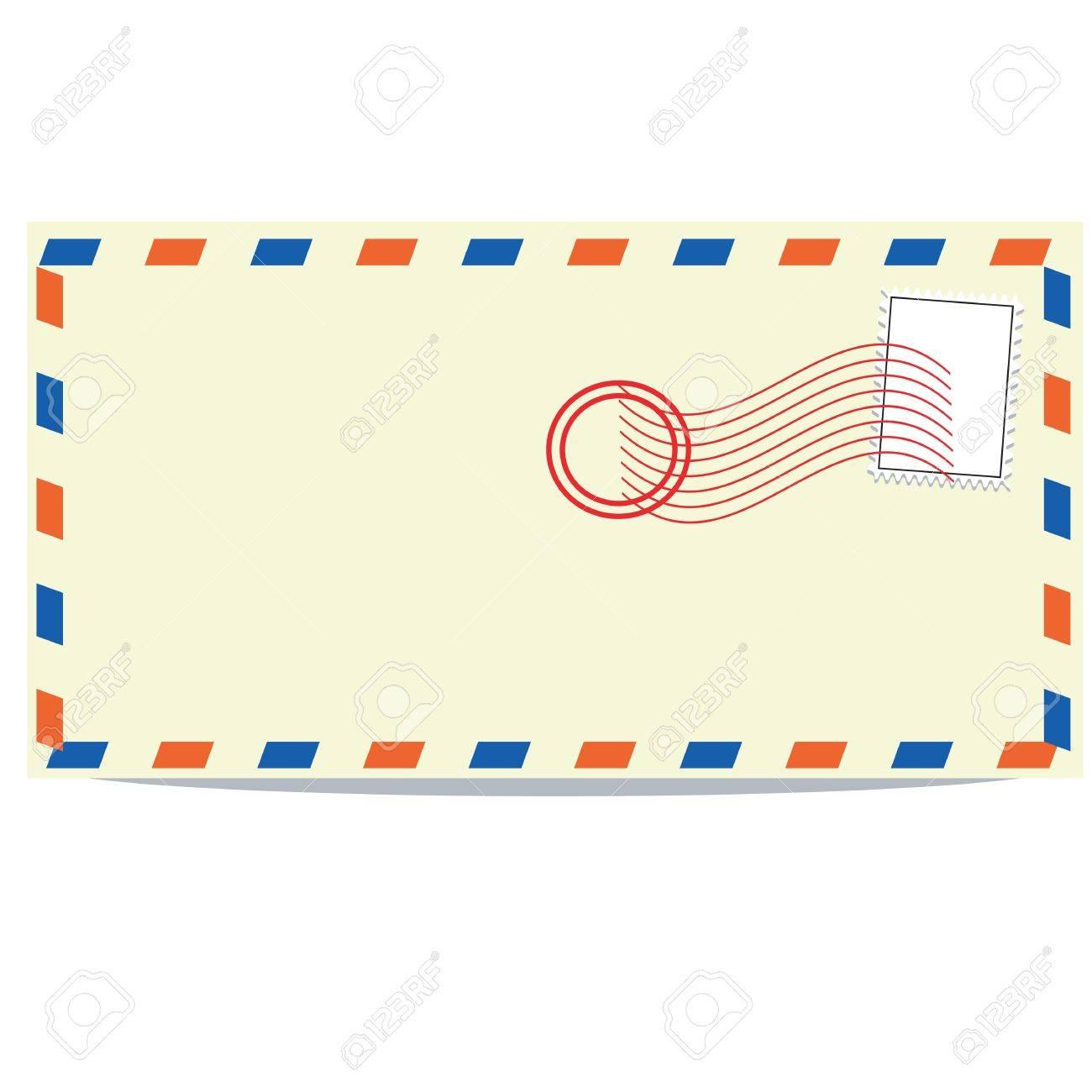 Simple envelope back side wver white background Stock Vector - 11958101