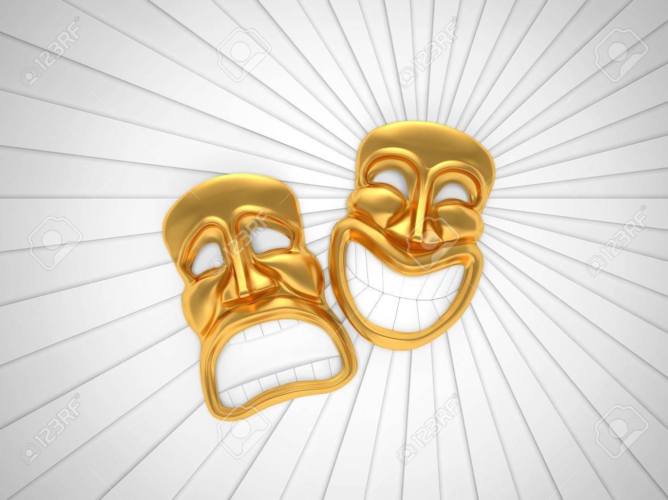 Masque De Théâtre Avec Un Sourire Banque Dimages Et Photos Libres