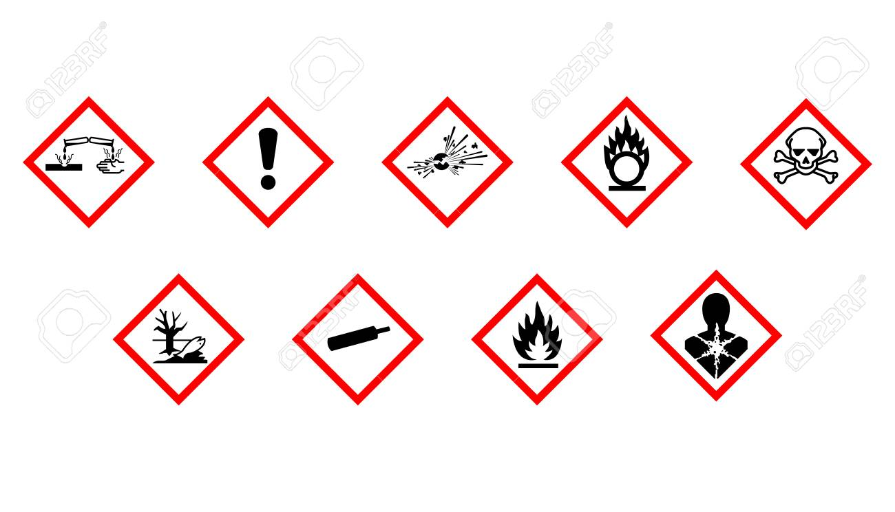 Labeling of chemical hazards royalty free cliparts vectors and labeling of chemical hazards stock vector 79996486 buycottarizona Image collections