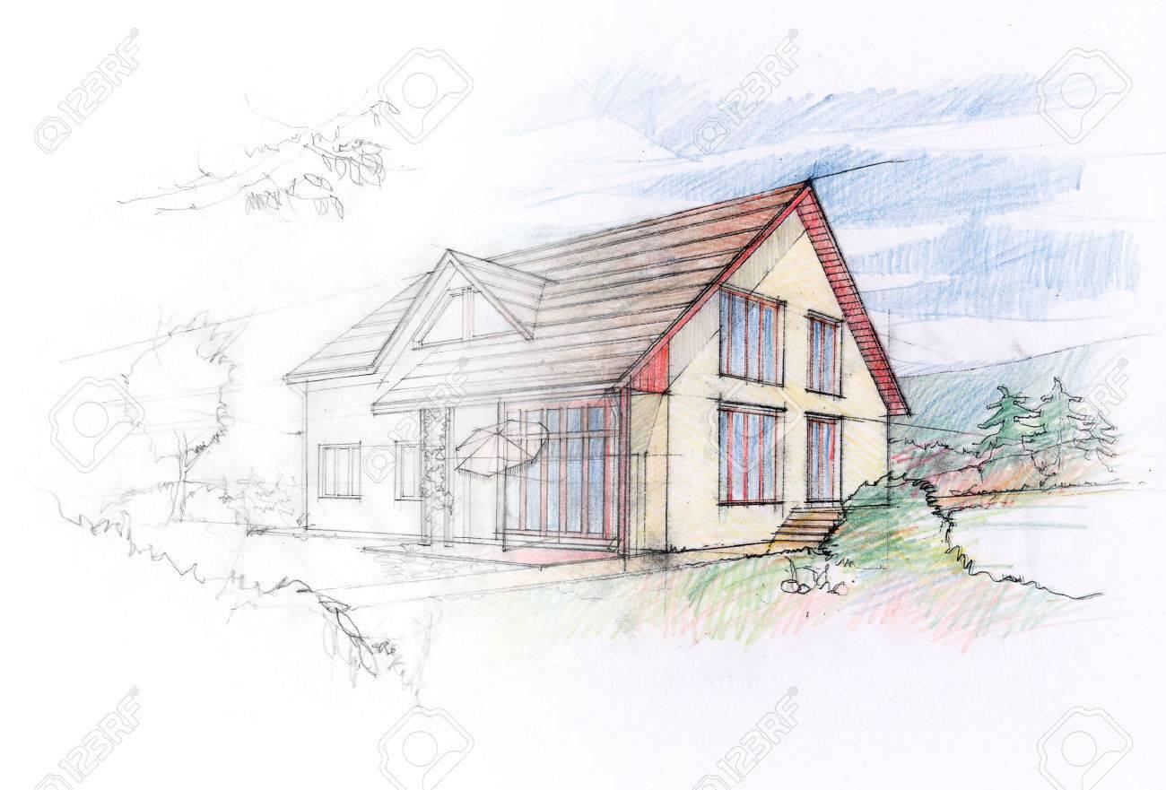 House sketch design - 36577138