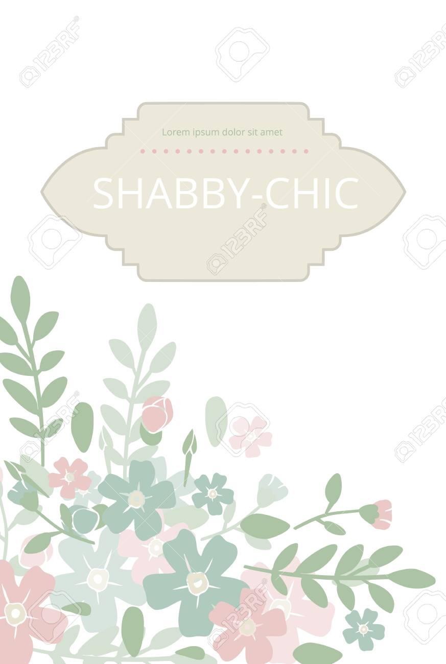 Shabby Chic. Elegant Vintage Background Peas And Frame Flowers ...