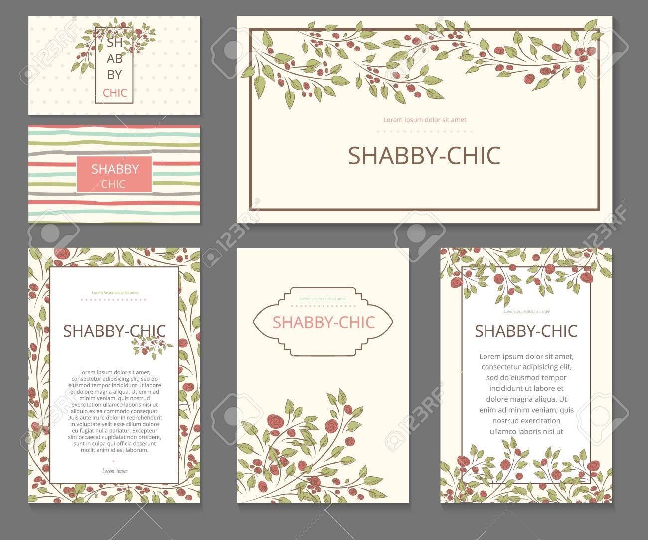 Event Painted Floral Background Design Stationery Set In Vector Format Wedding Invitations