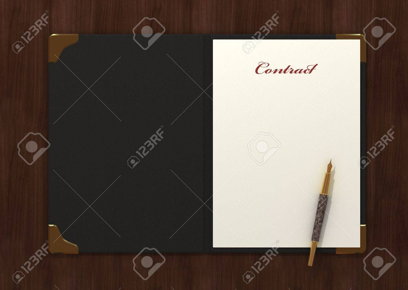 Form of contract. 3d rendering. Stock Photo - 3454032