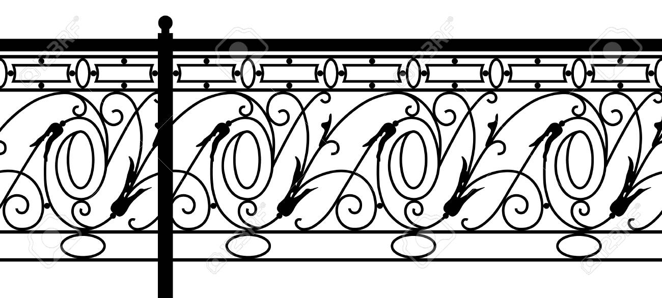 Ornamental fence. Seamless pattern. Stock Vector - 3482533