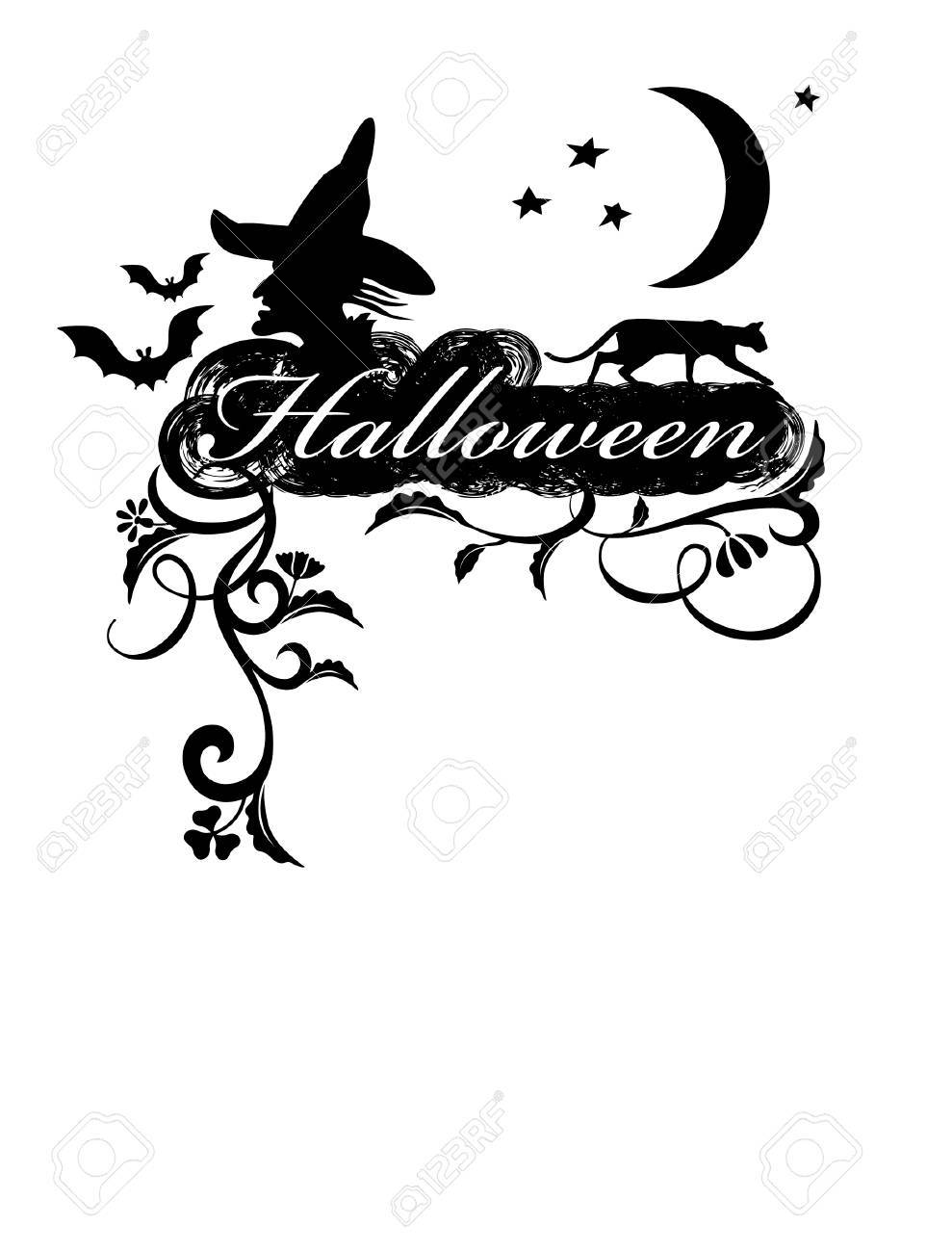 Halloween. Greeting Card. Stock Vector - 3597879