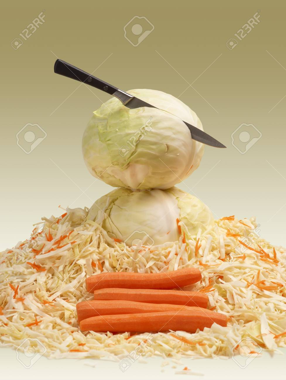 Hopping White Cabbage Stock Photo - 10592762