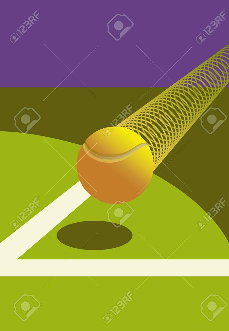 Victory Tennis Ball Stock Vector - 14745948