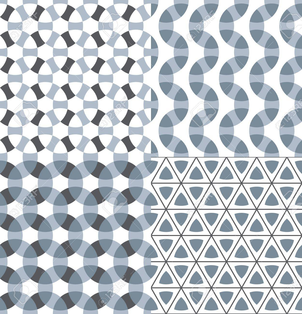 Geometric modular seamless patterns set Stock Vector - 17123062