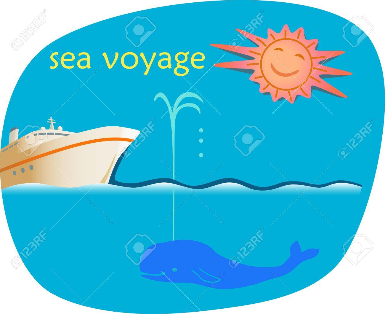 Sea Voyage. Advertising  template of sea cruise offer. Stock Vector - 18700111