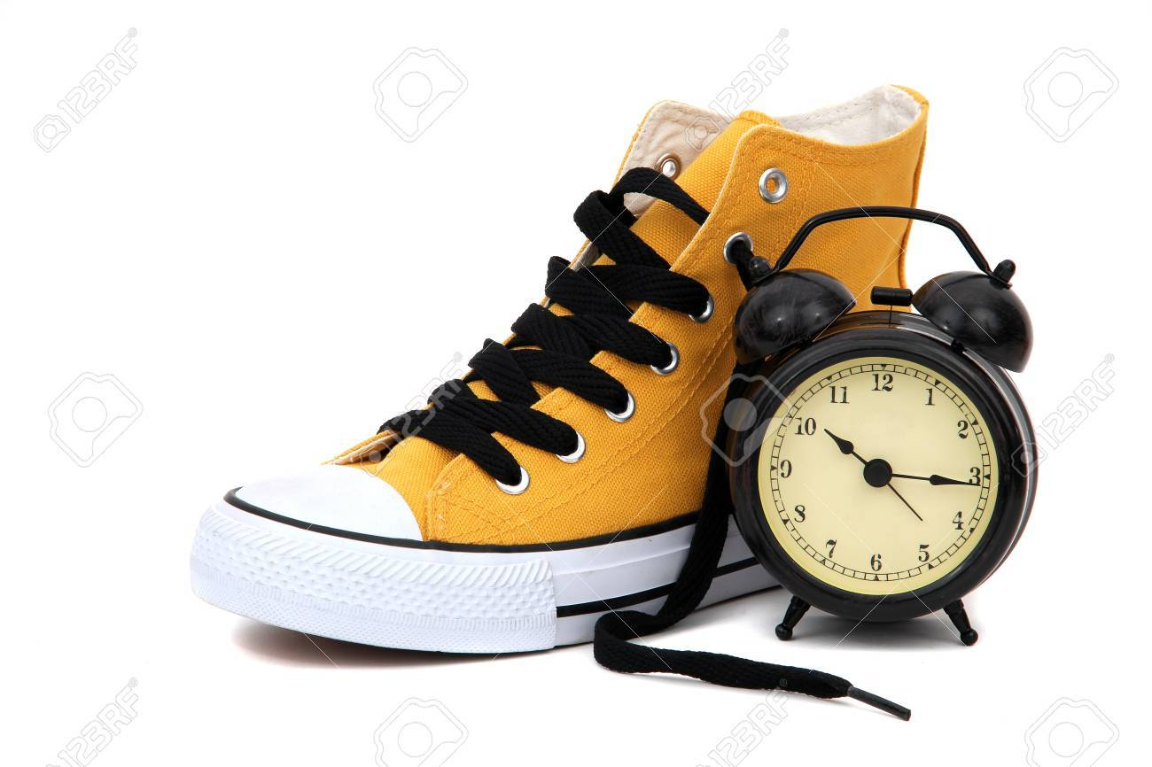 Sneaker with clock Stock Photo - 12291199